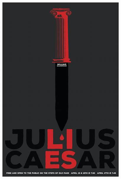 Poster Julius Caesar Graphis Enlarged Credits Bio