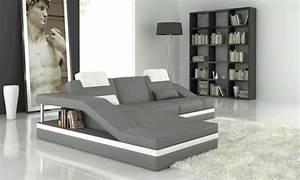 canape d39angle en cuir italien 5 places elvir gris clair With tapis persan avec fabricant de canapé italien