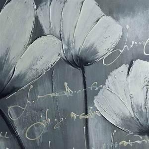 Toile Blanche A Peindre : peinture de fleurs des champs tableau floral blanc ~ Premium-room.com Idées de Décoration