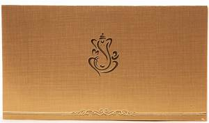 hindu wedding invitation in golden beige with ganesha With wedding cards pictures ganesha