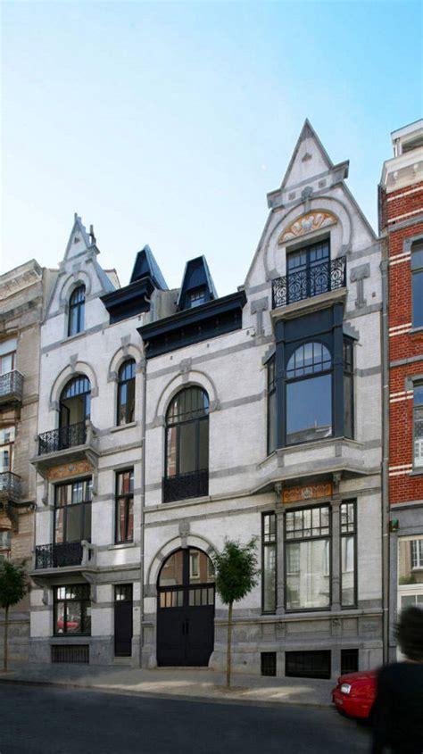 art nouveau house plans  brussels belgium