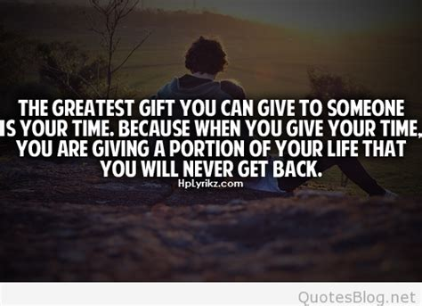 give time   gift quote