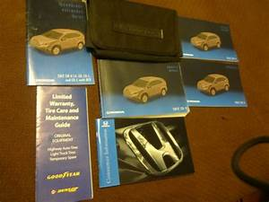 2012 Honda Crv Owners Manual Set With Nav  Manual