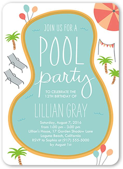 pool invitation template 18 birthday invitations for free sle templates birthday invitations templates