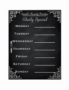 weekly menu template 20 free psd eps format download With family dinner menu template