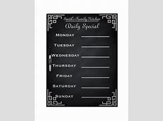 Weekly Menu Template – 20+ Free PSD, EPS Format Download