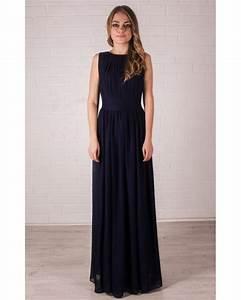 bridesmaid navy blue dresschiffon maxi dress wedding With navy blue maxi dress for wedding