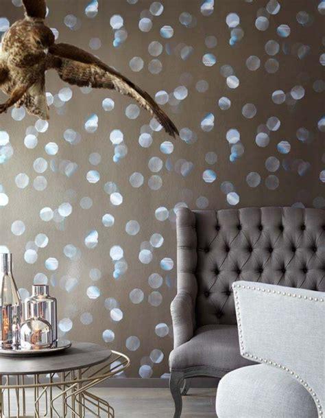 Muster Tapete Wohnzimmer by Wohnzimmer Tapeten Design Beige Lichtpunkte Effektfolie