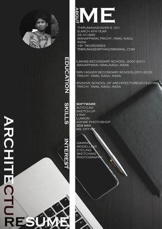 architecture internship resume  thiruma sempiyan issuu
