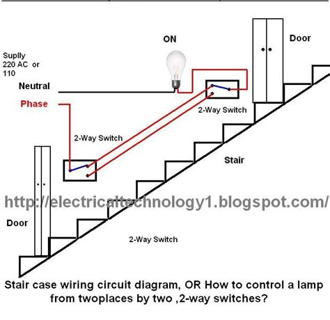 Staircase Wiring Circuit Diagram How Control Lamp