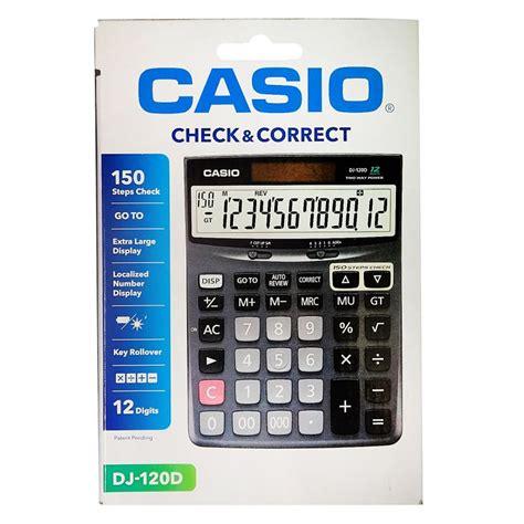casio desktop dj 120d calculator casio dj 120d office