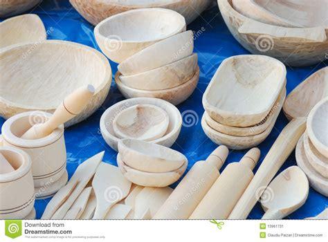 vaisselle de cuisine en bois image stock image 13961731
