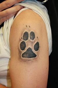 Dog Paw Tattoo Men