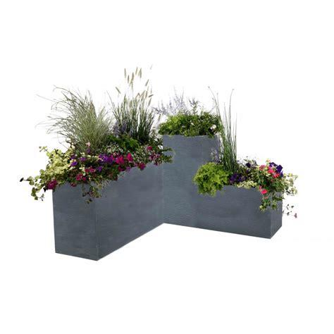 bac à fleurs rectangulaire bac 224 fleurs rectangulaire gris 98 litres chez jardin et saisons
