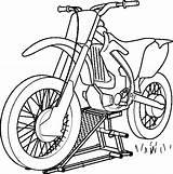 Motocross Transportation Coloring Kb sketch template