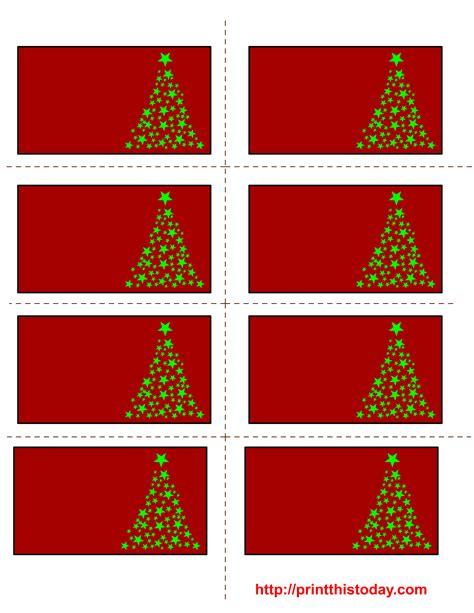 printable christmas labels  trees