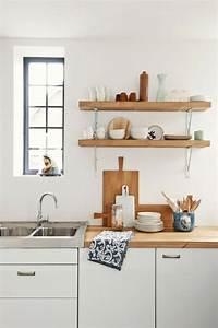 Idee decoration cuisine avec rangements ouverts for Idee deco cuisine avec cuisine bois