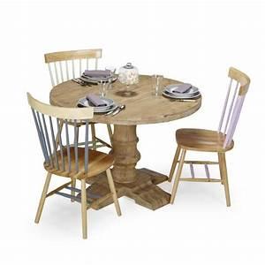 Table En Acacia : eva table ronde en acacia d110cm achat vente table salle a manger pas cher couleur et ~ Teatrodelosmanantiales.com Idées de Décoration