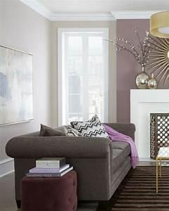 Wohnzimmer Wandfarbe Grau : wohnzimmer grau flieder ~ Orissabook.com Haus und Dekorationen