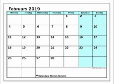 February 2019 Calendar 59MS Michel Zbinden