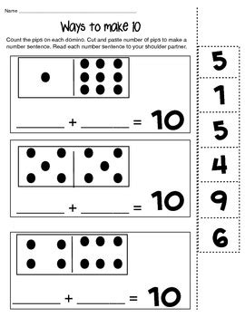 ways to make 6 8 and 10 math composing number worksheet tpt