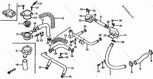 Honda Motorcycle 1983 Oem Parts Diagram For Water Pipe    Thermostat