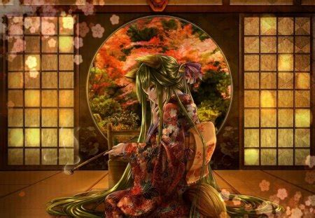 Anime Geisha Wallpaper - anime geisha 3d and cg abstract background wallpapers