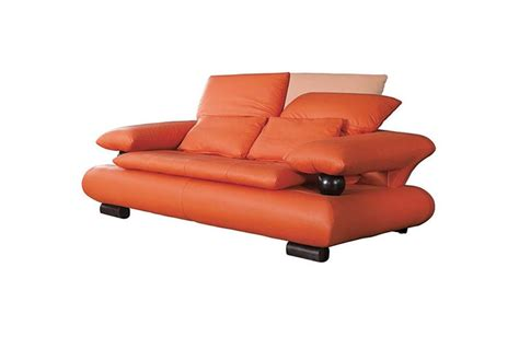Sofa Set Deals Nj by 410 Modern Orange Leather Sofa Set Casa Eleganza In