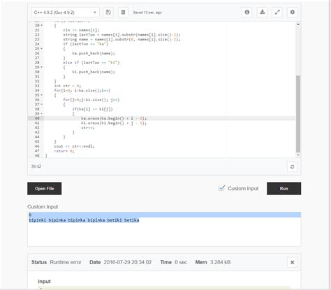 c runtime error on running code stack overflow