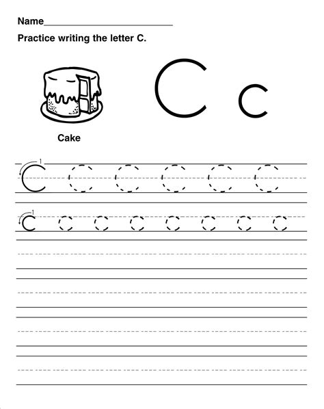 Trace The Letter C Worksheets  Activity Shelter