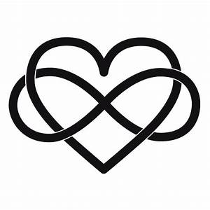 Infinity Herz Knoten Wandtattoo