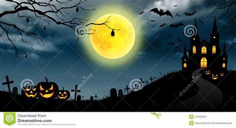 halloween panorama stock image image