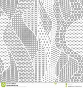 White Lace Vector Fabric Seamless Pattern Stock Vector ...