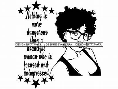 Quotes Diva Svg Afro Melanin Queen Woman