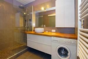 Lave Linge Dans Salle De Bain : salle de bains avec lave linge salle de bain combles ~ Preciouscoupons.com Idées de Décoration