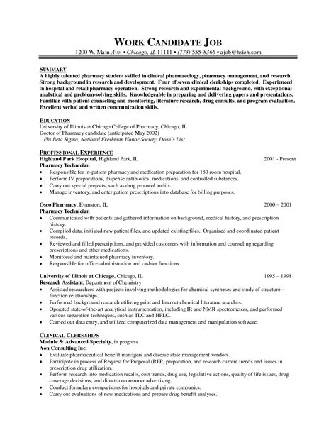 Pharmacy Technician Resume Template by Pharmacist Resume Templates Http Www Resumecareer Info