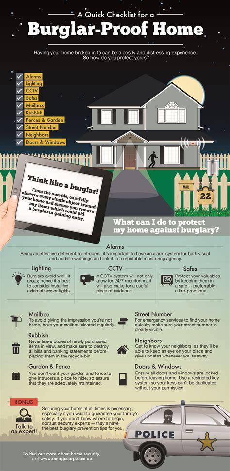 quick checklist   burglar proof home infographic