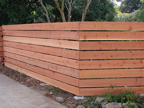 Horizontal Wooden Fences