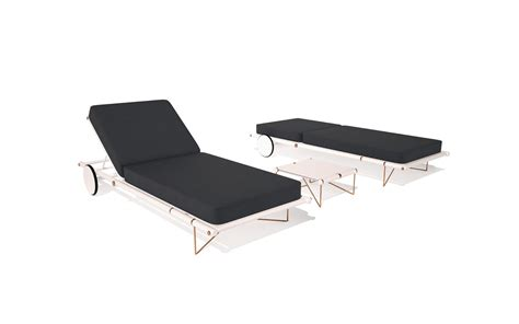 chaise alu manhattan aluminium outdoor chaise longue lounger with