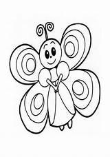 Butterfly Coloring Pages Preschool Kindergarten Crafts Preschoolcrafts sketch template