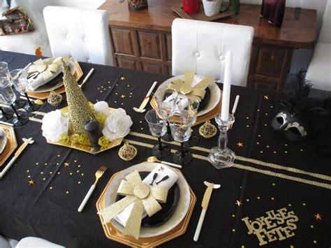 nouvel an 2016 en noir et or d 233 co de table 224 th 232 mes