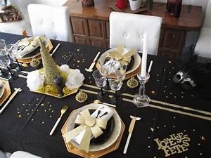 Deco Table Nouvel An Noir Et Or