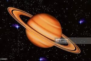 Saturn Artwork Of Saturn Seen Against A Starfield Saturn ...
