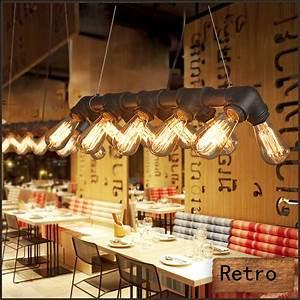 Lampe Industrial Style : 5 10er retro rohr leuchte lampe vintage industrial pendelleuchte h ngeleuchte ebay ~ Markanthonyermac.com Haus und Dekorationen