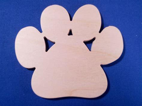 paw print wooden craft shape sizes qtys  dog