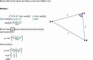 Kreis Winkel Berechnen : der kosinussatz bettermarks ~ Themetempest.com Abrechnung