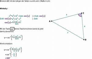 Mathe Flächeninhalt Berechnen : der kosinussatz bettermarks ~ Themetempest.com Abrechnung