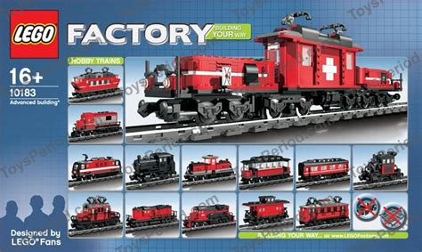 e s trains and hobby lego 10183 hobby set set parts inventory and