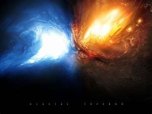 Ice vs Fire Abstract Picture | Abstract Graphic Wallpaper