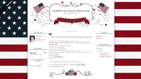 american flag template butterflygirlms rambles on 4th of july templates background